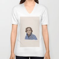 lucy V-neck T-shirts featuring Lucy by Carly Sunlit