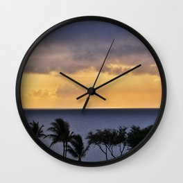 Maui Sunset Wall Clock