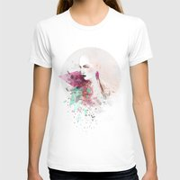 fashion illustration T-shirts featuring FASHION ILLUSTRATION 3 by Justyna Kucharska