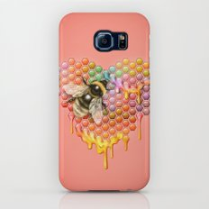 valentines heart, bumblebee, beehive Slim Case Galaxy S7