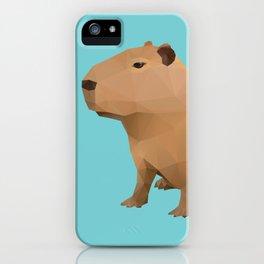 Capybara Polygon Art iPhone Case