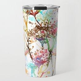 Queen Anne Lace Wild Flower Print Travel Mug
