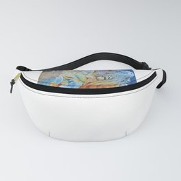 The brightly colored iguana Fanny Pack