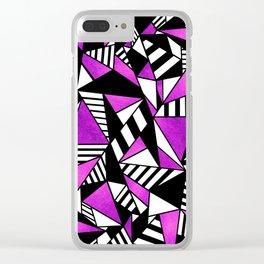 Geometric Purple Clear iPhone Case