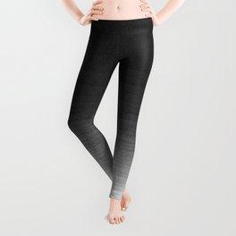 Black and White Ink Gradient Leggings