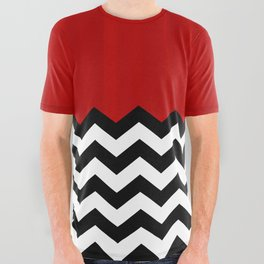 Twin Peaks - The Red Room All Over Graphic Tee