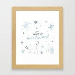 Walkin' In A Winter Wonderland Framed Art Print