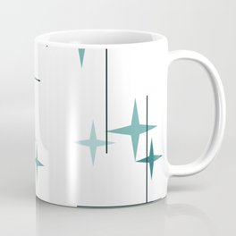 Mid Century Modern Stars (Teal) Kaffeebecher