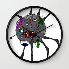Mutated Spider Wall Clock