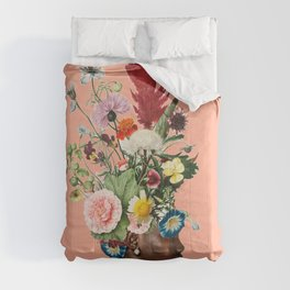 Flower Power- Peach Comforters