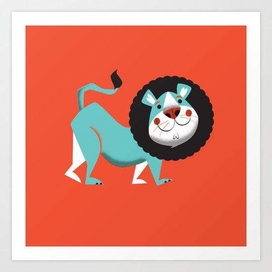 Evan the lion Art Print