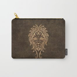 Vintage Rustic Leo Zodiac Sign Carry-All Pouch