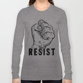 Resist Clenched Hand Long Sleeve T-shirt