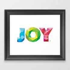 Multi-colored Joy Framed Art Print