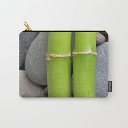 Green Bamboo Sticks on Pebble Carry-All Pouch
