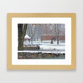 Duck Pond at Ste. Marie Du Lac Framed Art Print