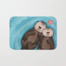 Otters in Love Bath Mat