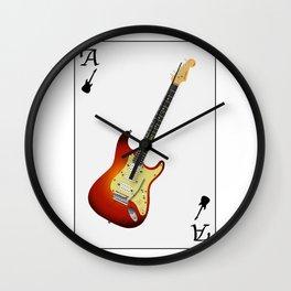 Guitar Ace Playing Card Wall Clock