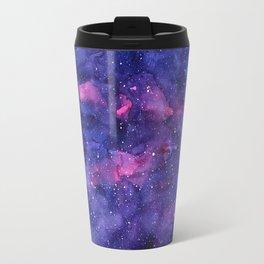 Galaxy Pattern Watercolor Nebula Texture Travel Mug