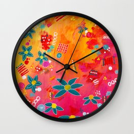 Yellow Delight Wall Clock