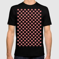Pixel Hearts Mens Fitted Tee MEDIUM Black