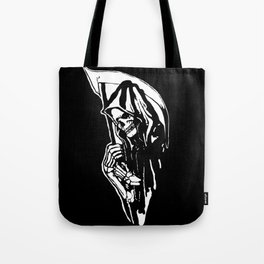 HALLOWEEN WITH DEATH THE GRIM REAPER Tote Bag