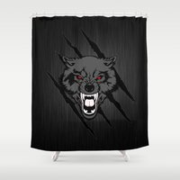 daenerys Shower Curtains featuring WOLF and ClAW by alexa