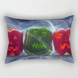 Jack O Lantern Bell Peppers Rectangular Pillow