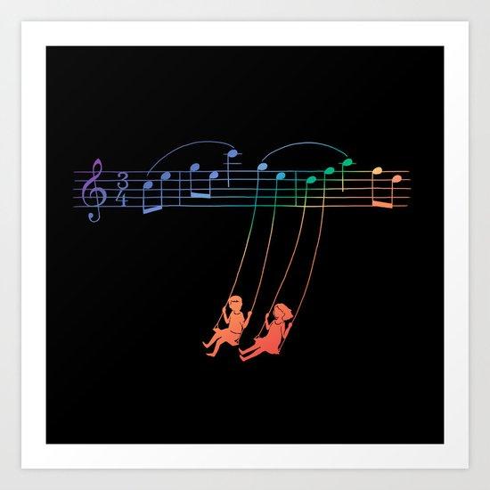 Music Swing Art Print