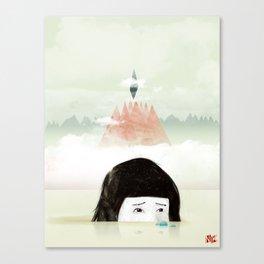 Girl Mountain Canvas Print