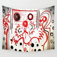 beard Wall Tapestries featuring Beard by hARMONIEjoy