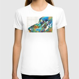 Colorful Dog Art - Loving Eyes - By Sharon Cummings T-shirt