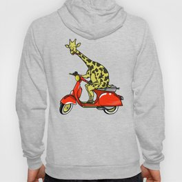 Giraffe riding a moped Hoody