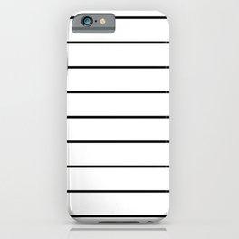 LINES (BLACK & WHITE) iPhone Case