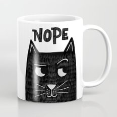 nope kitty Mug