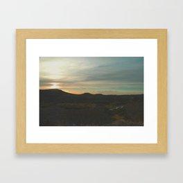 Sunset in Big Bend Framed Art Print