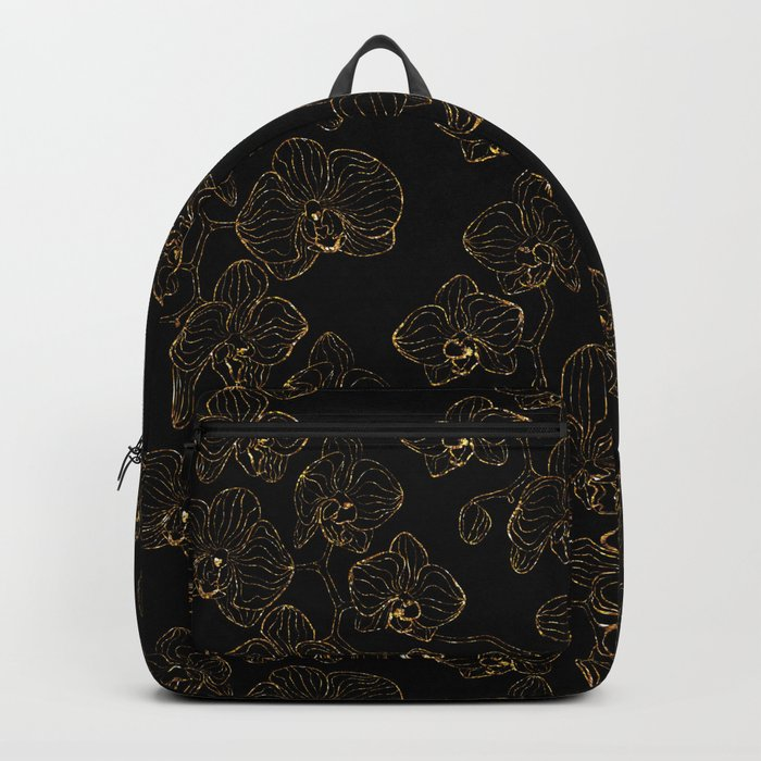 Flowers orchids ornament gold Backpack