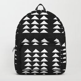 Tribal Triangles in Black and White Backpack