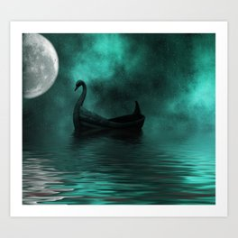 Solar Swan Art Print