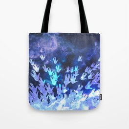 H.E.L.L.O. / blue Tote Bag
