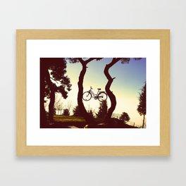 Bicycle Tree Framed Art Print