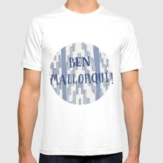 Ben Mallorquí White SMALL Mens Fitted Tee