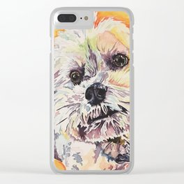 Rainbow Pup Clear iPhone Case