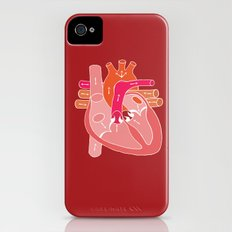 Heart Diagram Slim Case iPhone (4, 4s)