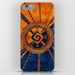 Hunab Ku Mayan symbol Orange and Blue iPhone Case