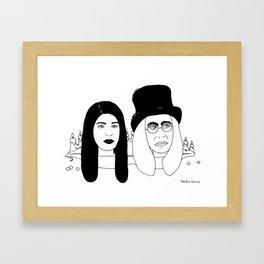 Two Weirdos in a Pod Framed Art Print