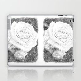 Pink Roses in Anzures 2 Charcoal Laptop & iPad Skin