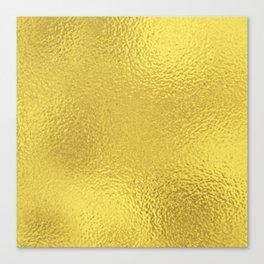 Simply Metallic in Yellow Gold Canvas Print