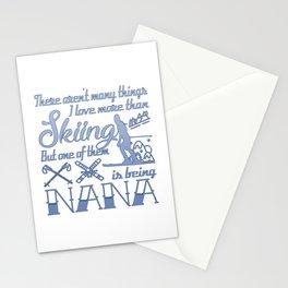Skiing Nana Stationery Cards