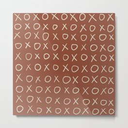 Noughts and Crosses Metal Print